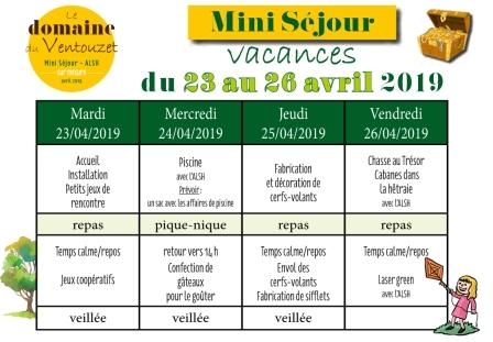 Planning MS vacances avril 2019